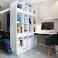 34955 Основные правила дизайна рабочего места в гостиных комнатах