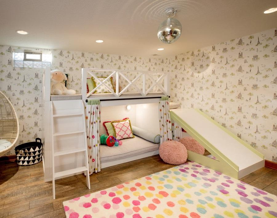 Освещение на нижнем ярусе детской кровати