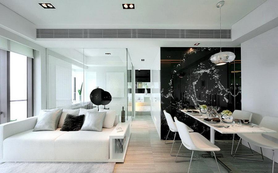 Фото светлой квартиры студийной планировки