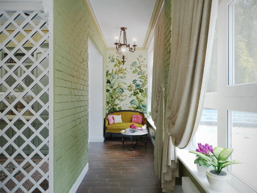 Оформление интерьера балкона в стиле прованс