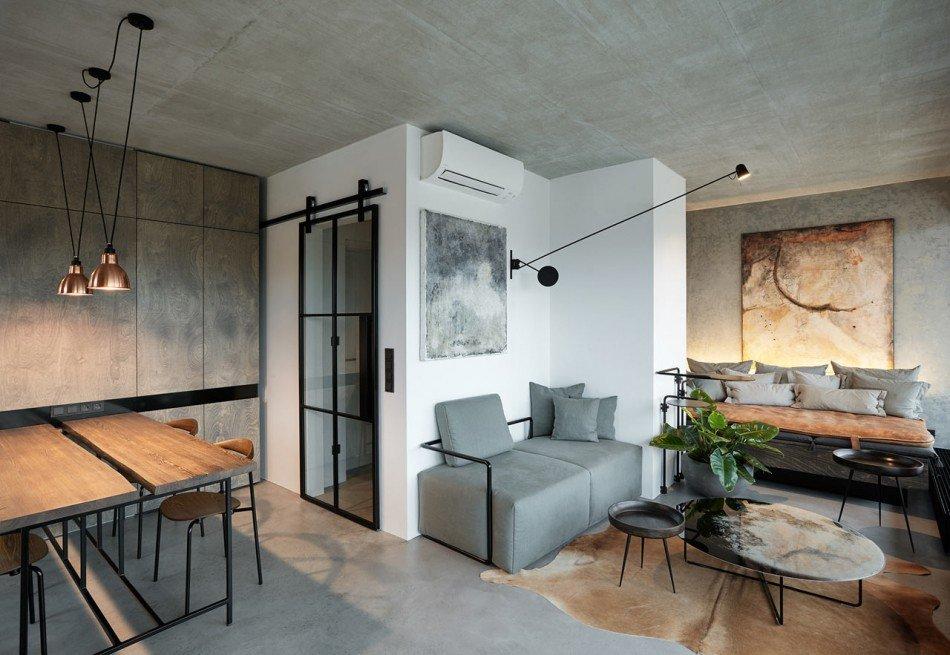 Расположение картин в гостиной комнате лофт стиля