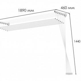 Варианты выбора лианы-сушилки для белья в интерьер балкона и лоджии