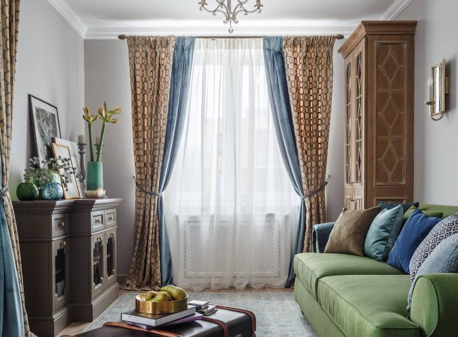 Модные в 2019 году шторы для гостиной комнаты