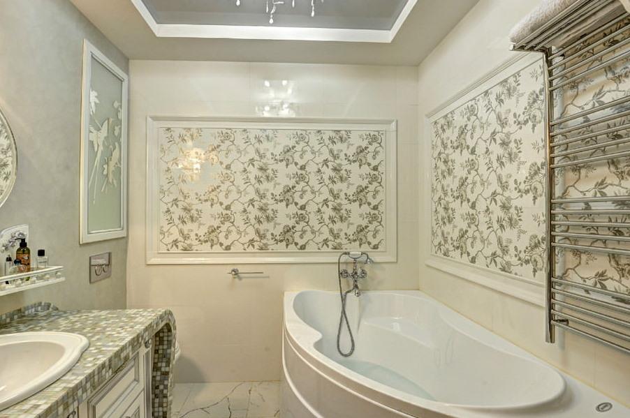 Комбинированный смеситель над ванной из акрила
