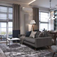 32679 Современный дизайн квартиры 50 кв. м