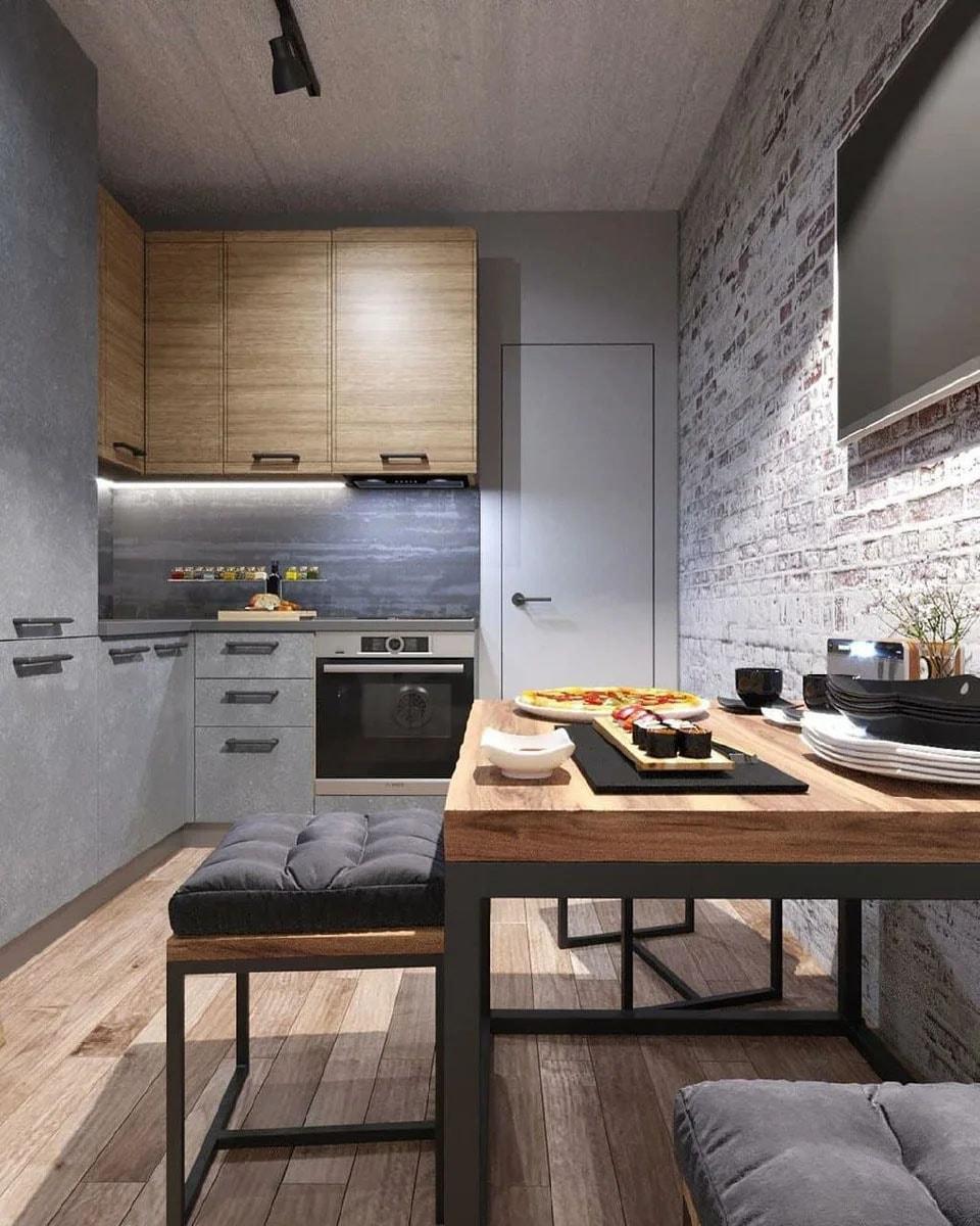 кухня в квартире 50 квадратных метров