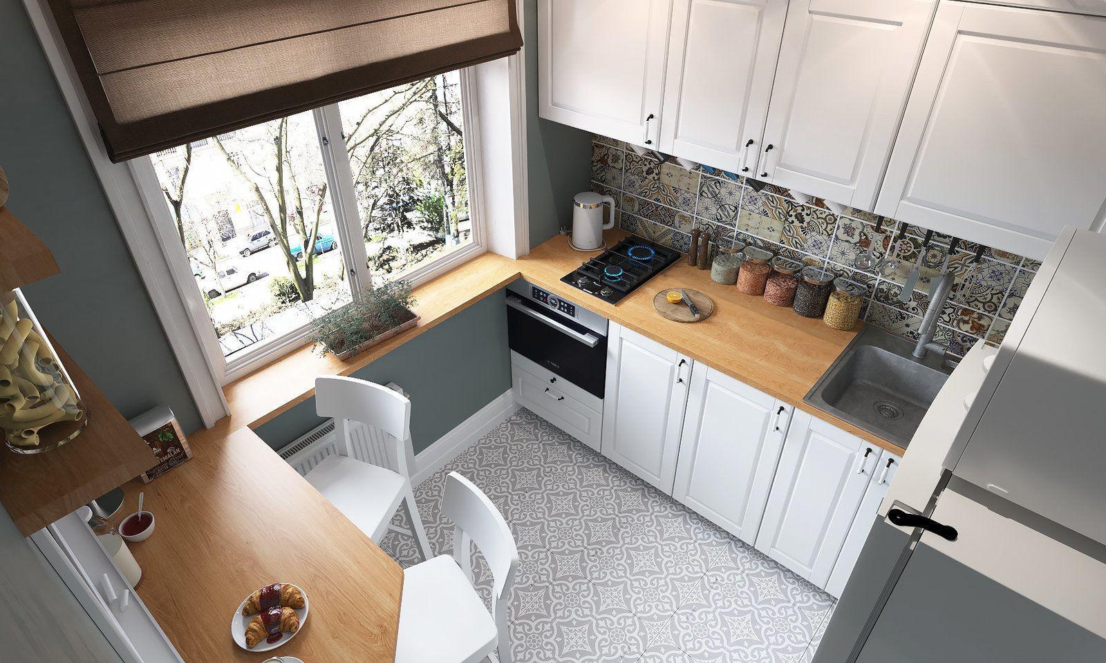 33129 Угловая кухня в хрущевке: какой дизайн выбрать