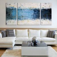32206 Варианты выбора модульных картин в интерьер гостиных комнат