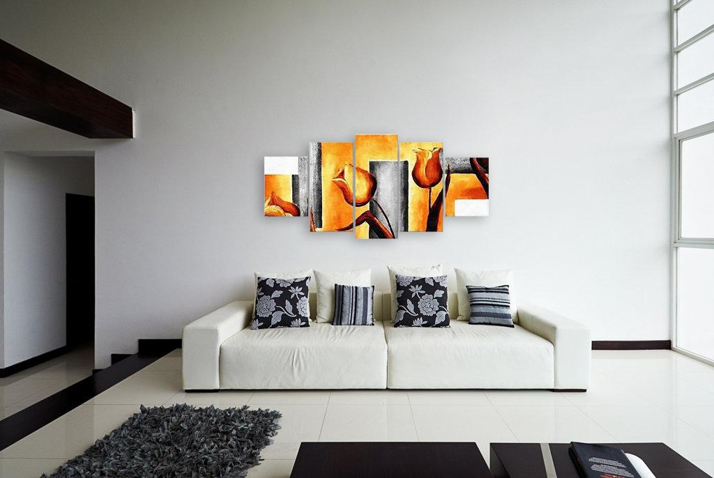 Выбор картины для гостиной в стиле минимализма