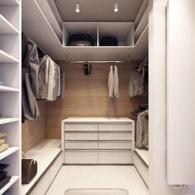 гардеробная комната 4 кв м виды