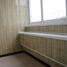 отделка балкона ламинатом интерьер фото