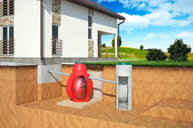 Установка очистных сооружений в загородном доме