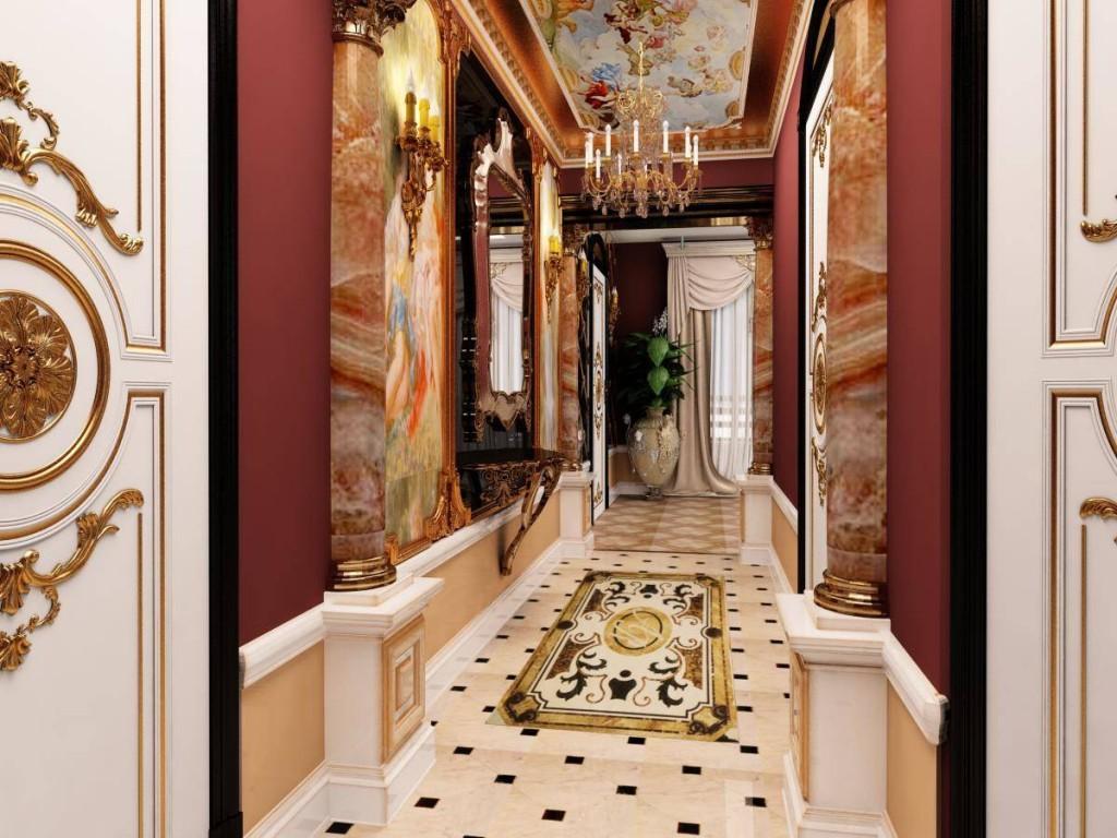 Выбор обоев для коридора в стиле барокко