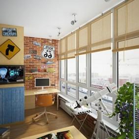 детская комната на балконе фото декор