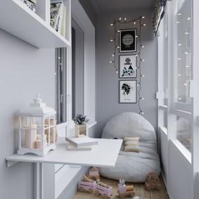 детская комната на балконе идеи декор