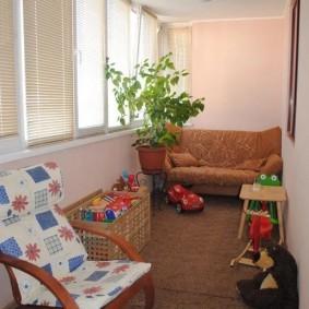 детская комната на балконе интерьер