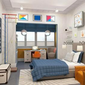 детская комната на балконе фото интерьер