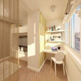 детская комната на балконе оформление