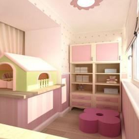 детская комната на балконе фото оформления