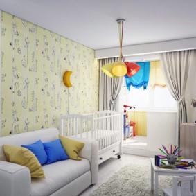детская комната на балконе оформление идеи