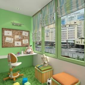 детская комната на балконе варианты фото