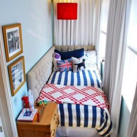детская комната на балконе фото варианты