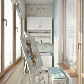 детская комната на балконе фото идеи