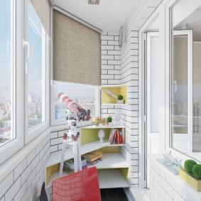 детская комната на балконе виды