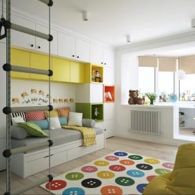 детская комната на балконе обзор