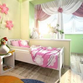детская комната на балконе виды декора