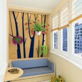 детская комната на балконе дизайн