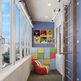 детская комната на балконе дизайн фото