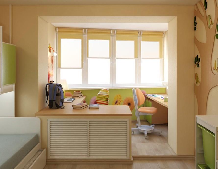 детская комната на балконе идеи