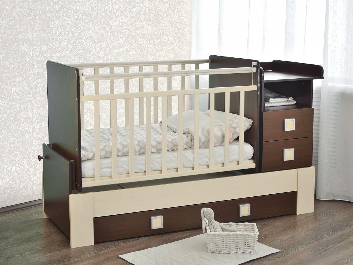 детская кровать с пеленальным столиком маятник