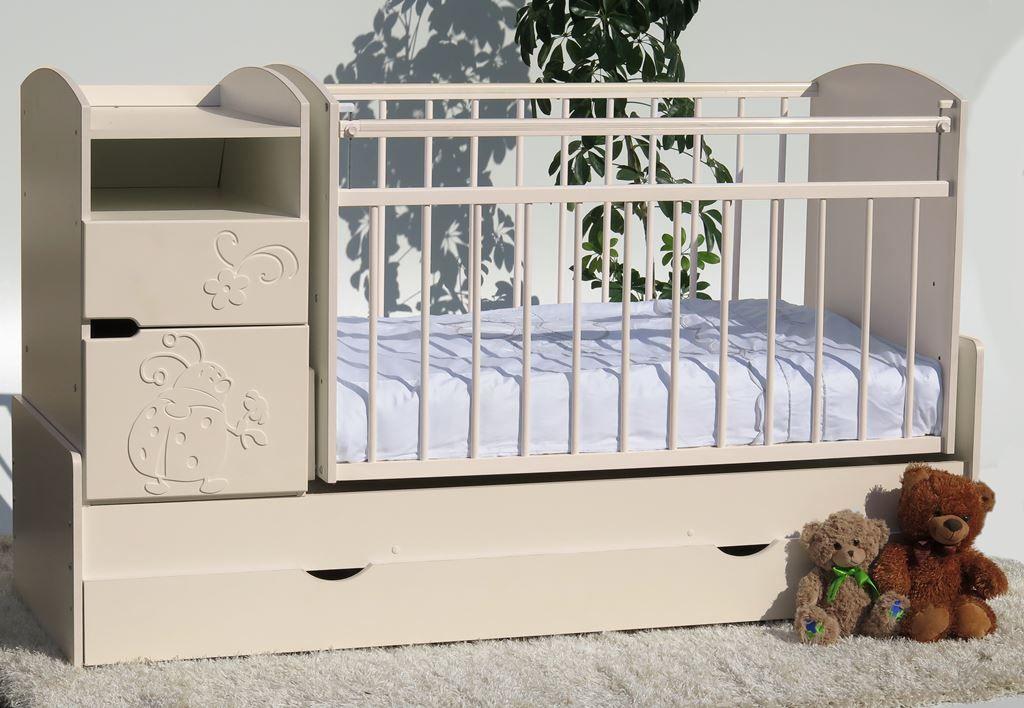 детская кровать с пеленальным столиком трансформер