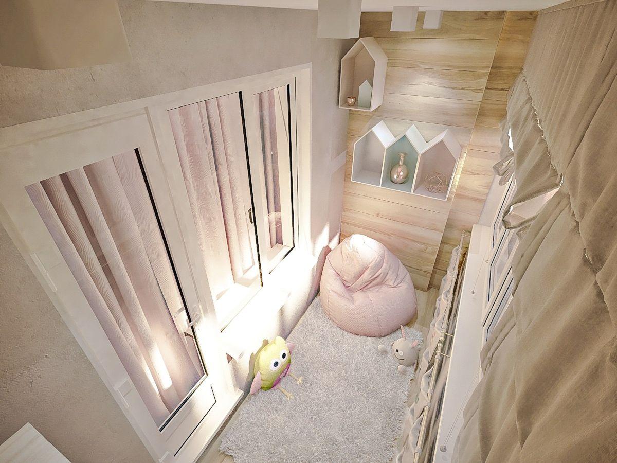 дизайн балкона детской