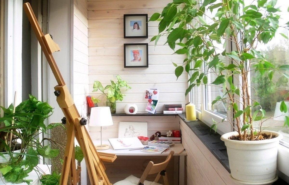 дизайн балкона детской уголок для творчества