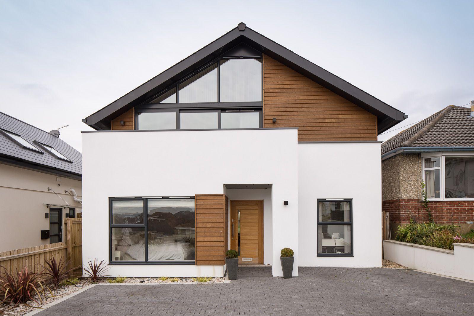 фасад дома минимализм
