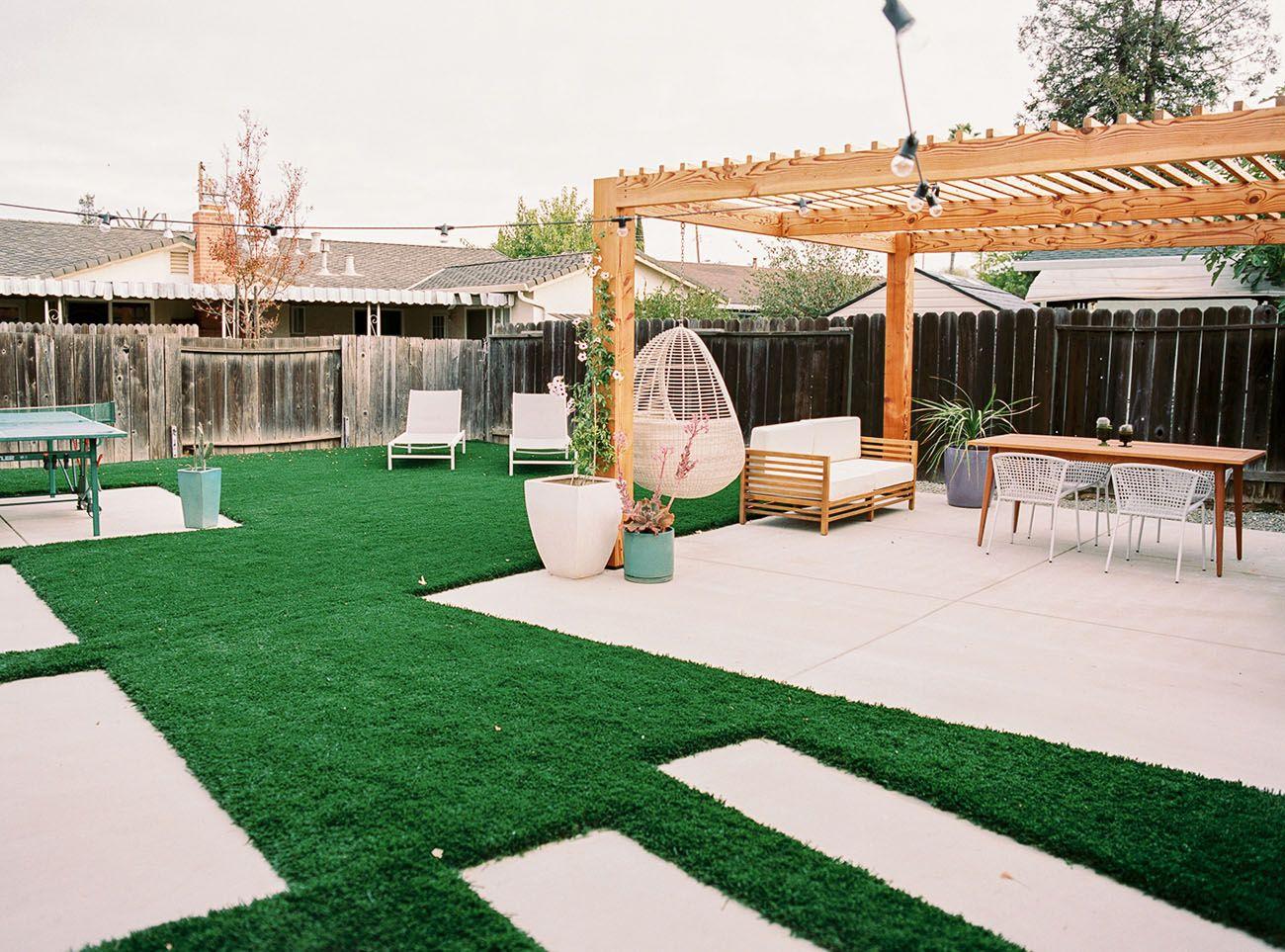дизайн заднего двора