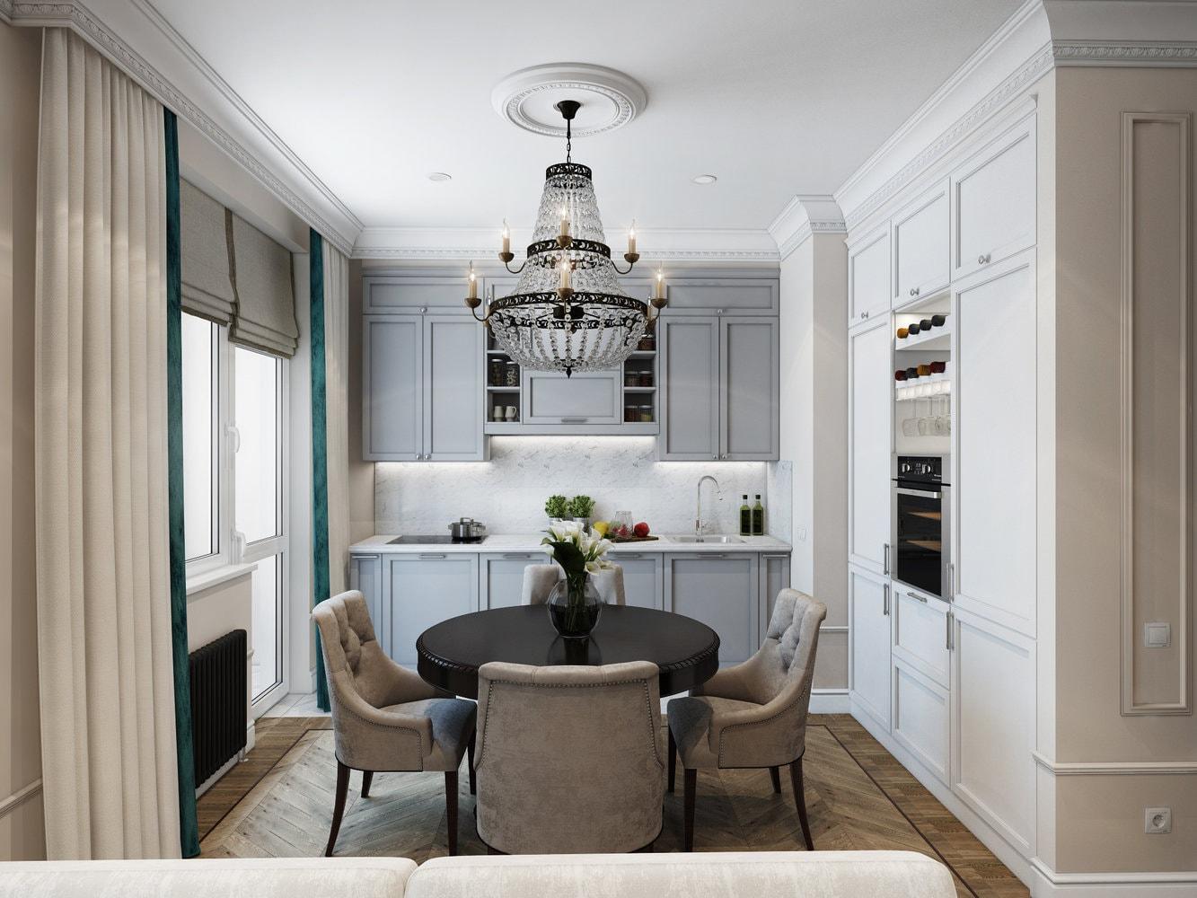 дизайн кухни 12 кв м с балконом