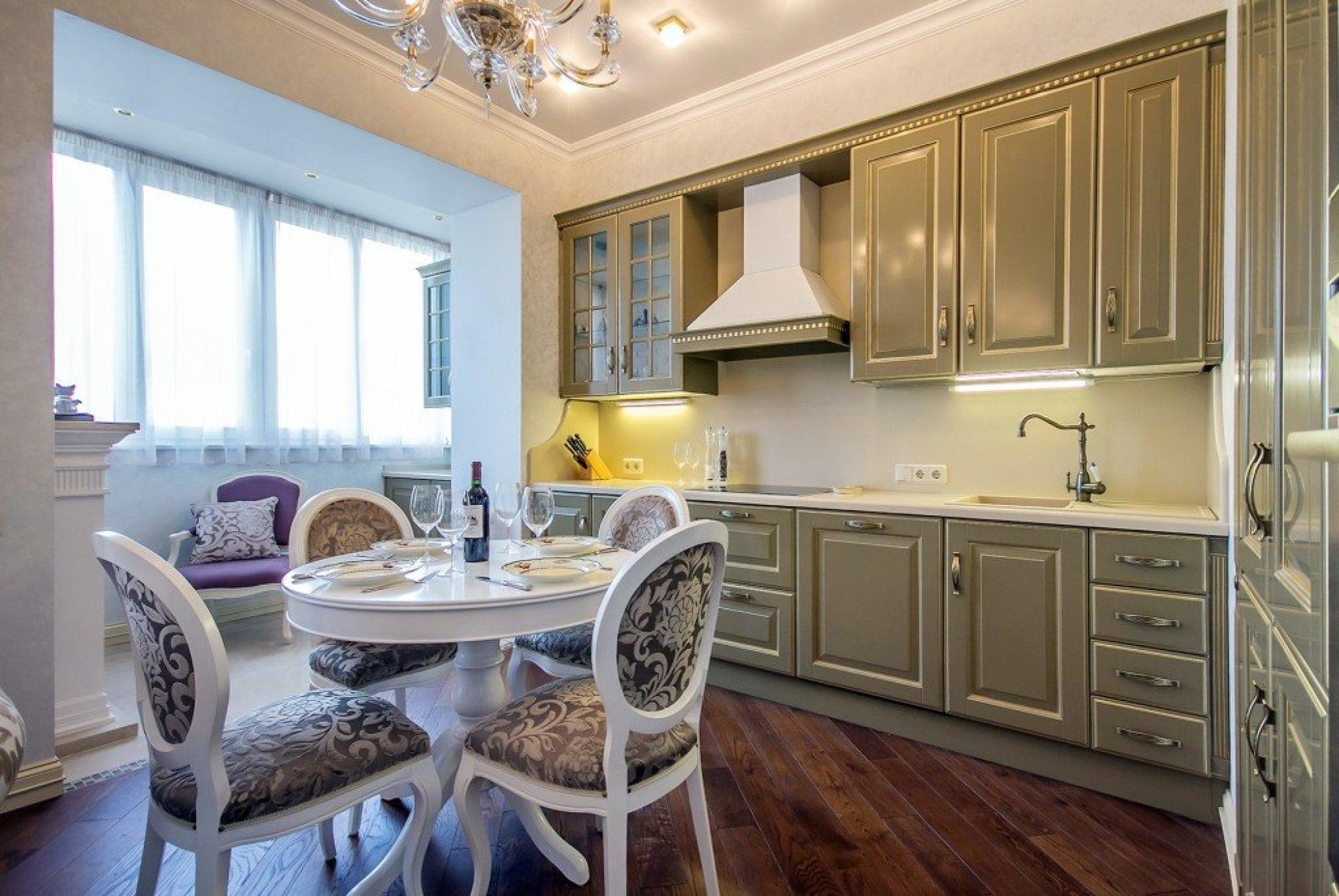 интерьер кухни 12 кв.м с балконом