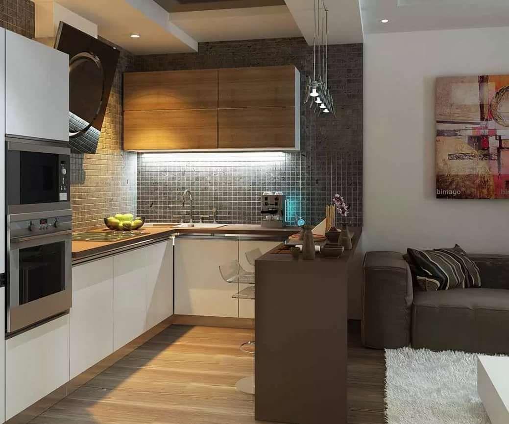 дизайн кухни гостинной 12 кв м