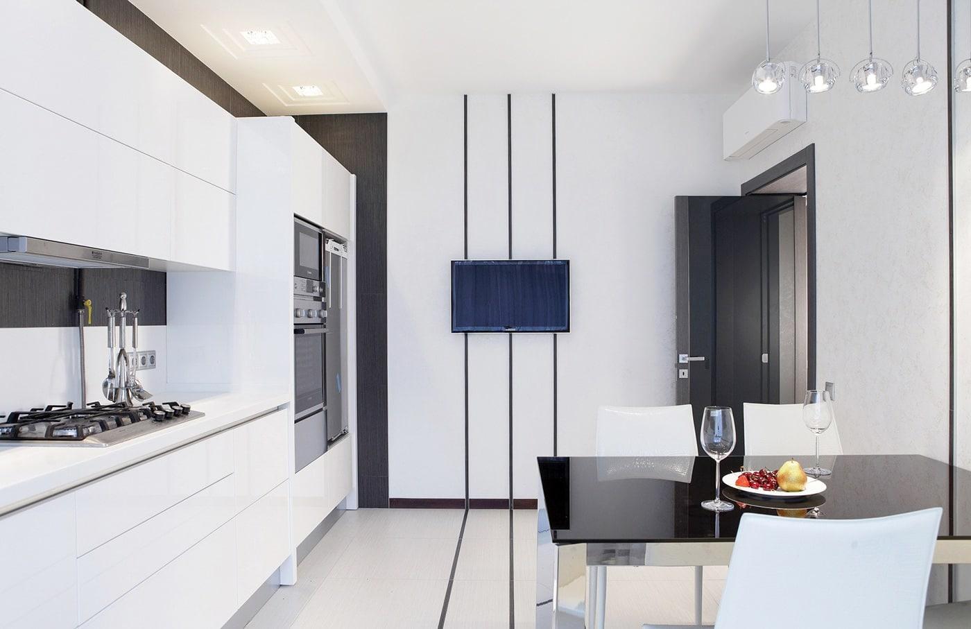 дизайн интерьера кухни 3 на 4