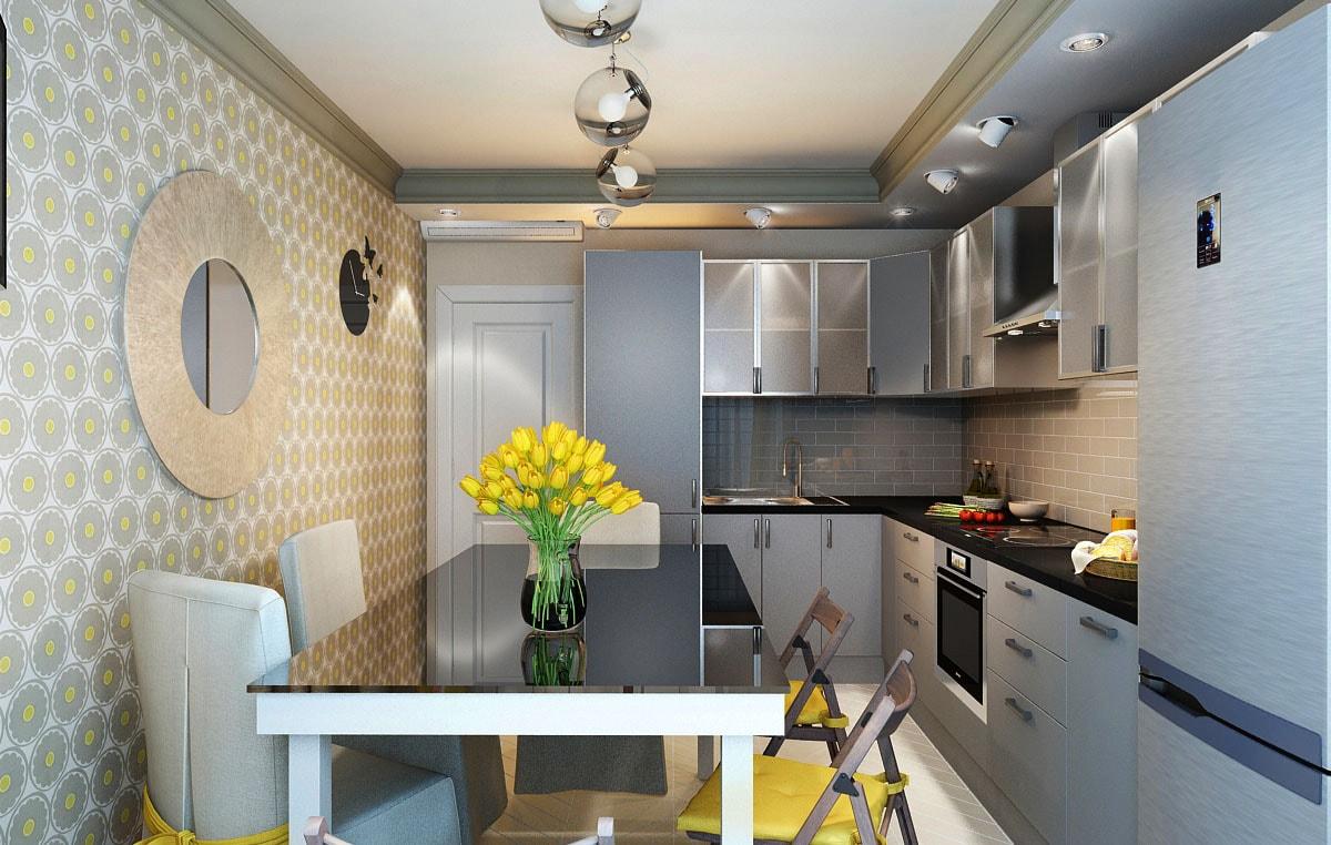 Дизайн кухни 3 на 4