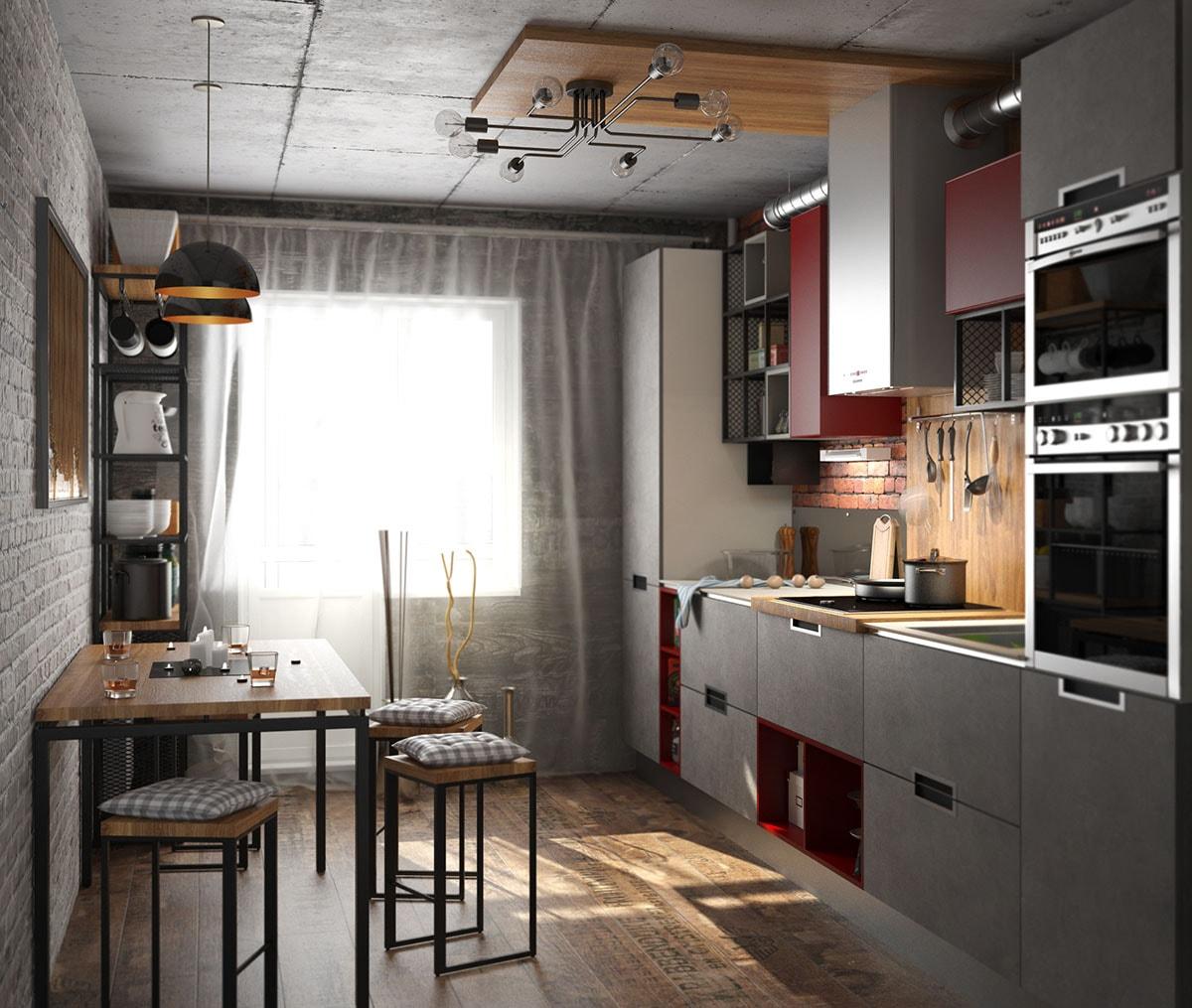 дизайн кухни 3 на 4 с окном