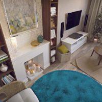 38729 Дизайн проект 1-комнатной квартиры: 2 проекта