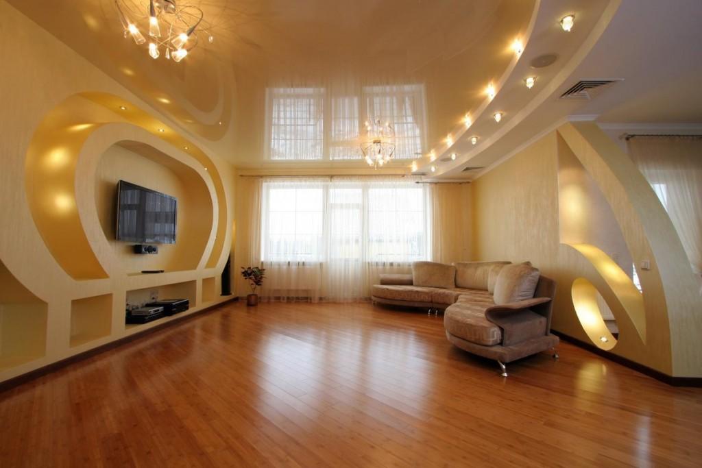 Зонирование комнаты с помощью освещения