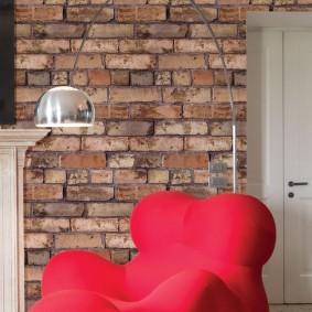 Красное кресло от знаменитого дизайнера