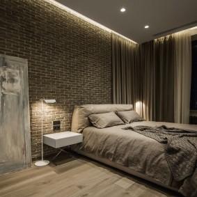 Парящий потолок в спальне парня