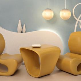 Пластиковая мебель футуристического дизайна